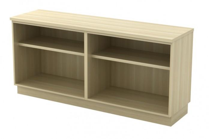 Dual Open Shelf Low Cabinet