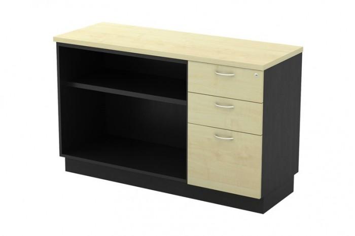 Open Shelf + Fixed Pedestal 2D1F