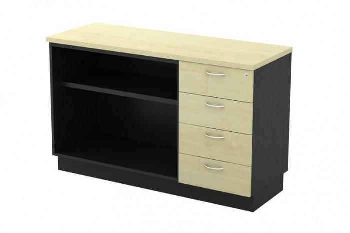 Open Shelf + Fixed Pedestal 4D