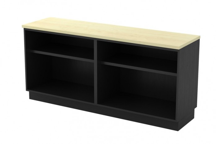 Dual Open Shelf Low Cabinet