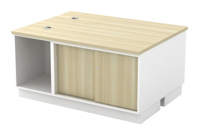 Open Shelf + Sliding Door