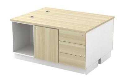 Open Shelf + Swinging Door + Fixed Pedestal 3D