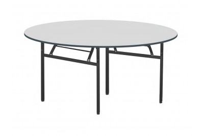 Foldable Round Table Metal Leg