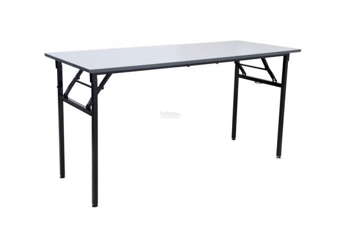 Foldable Rectangular Table Metal Leg