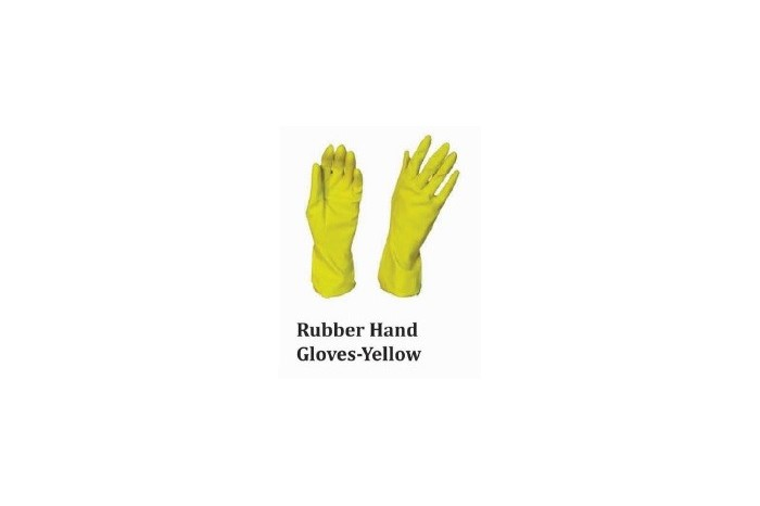Rubber Hand Gloves - Yellow