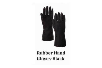 Rubber Hand Gloves - Black