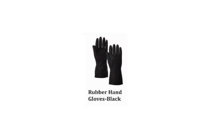 Rubber Hand Gloves - Black