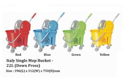 Italy Single Mop Bucket - 22L (Down Press)