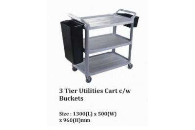 3 Tier utilities Cart c/w Buckets