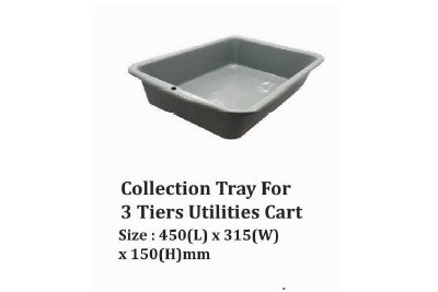 Collection Tray For 3 Tiers Utilities Cart