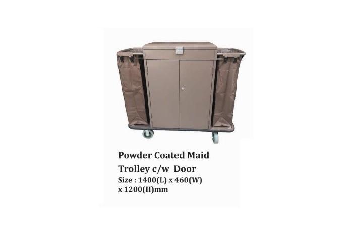 Powder Coated Maid Trolley c/w Door