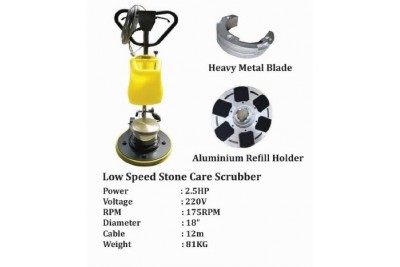 Low Speed Stone Care Scrubber