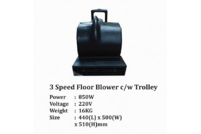3 Speed Floor Blower c/w Trolley