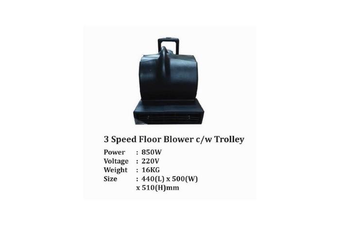 3 Speed Floor Blower c/w Trolley