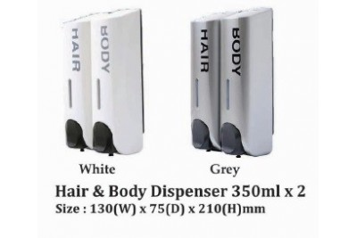 Hair & Body Dispenser 350ml x 2