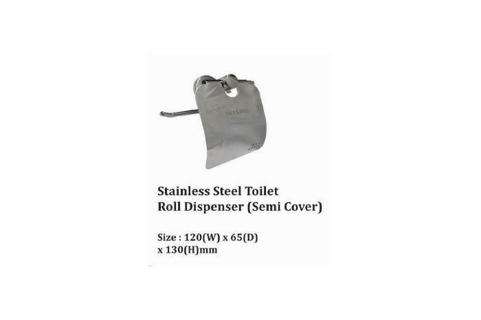 Stainless Steel Toilet Roll Dispenser (Semi Cover)