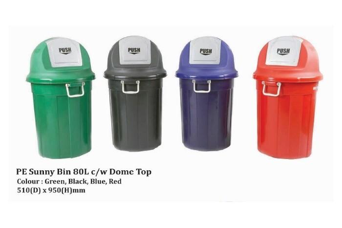 PE Sunny Bin 80L c/w Dome Top