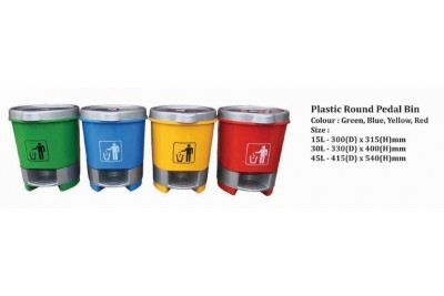 Plastic Round Pedal Bin