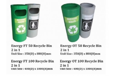 Energy Recycle Bin 2 in 1
