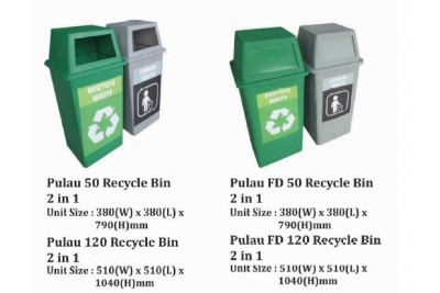 Pulau Recycle Bin 2 in 1