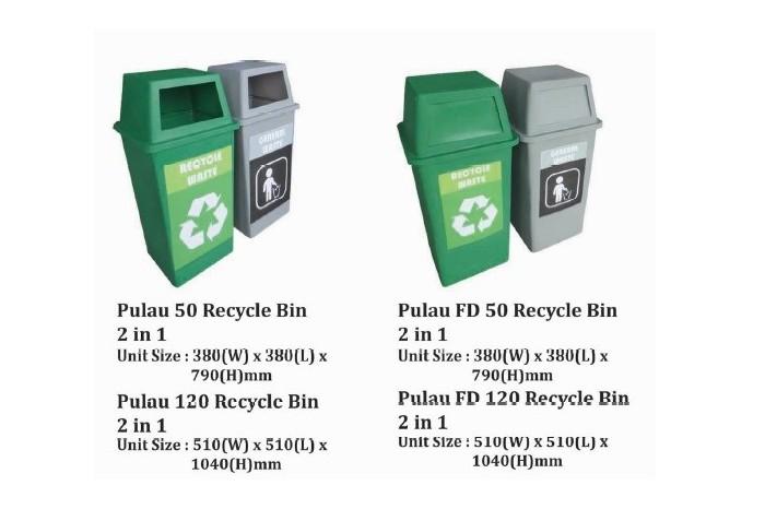 Pulau Recycle Bin 2 in 1