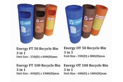 Energy Recycle Bin 3 in 1