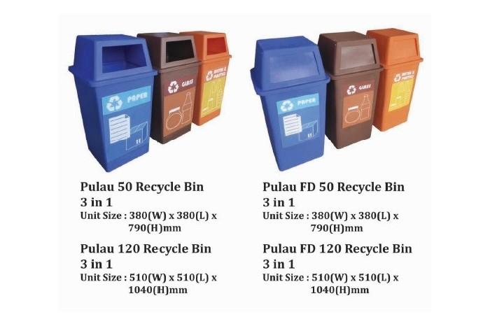 Pulau Recycle Bin 3 in 1