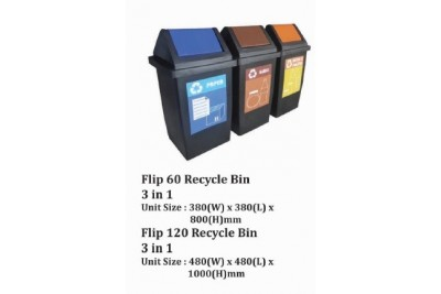 Flip Recycle Bin 3 in 1
