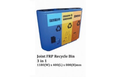 Joint FRP Recycle Bin 3 in 1