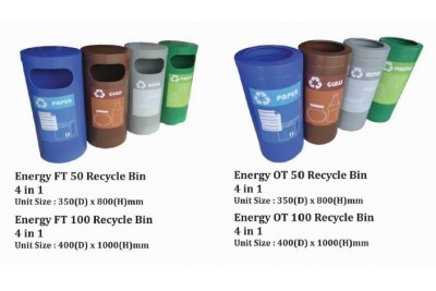 Energy Recycle Bin 4 in 1