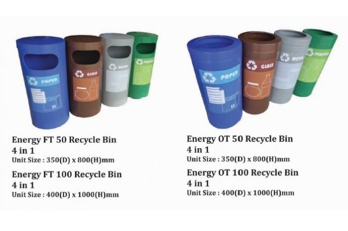 Energy Recycle Bin 4 in 1