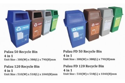 Pulau Recycle Bin 4 in 1