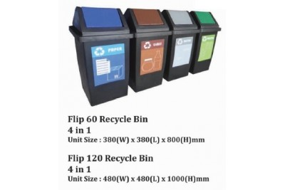 Flip Recycle Bin 4 in 1