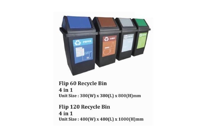 Flip Recycle Bin 4 in 1