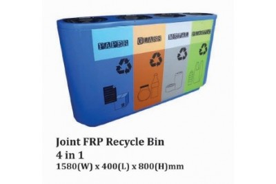 Joint FRP Recycle Bin 4 in 1