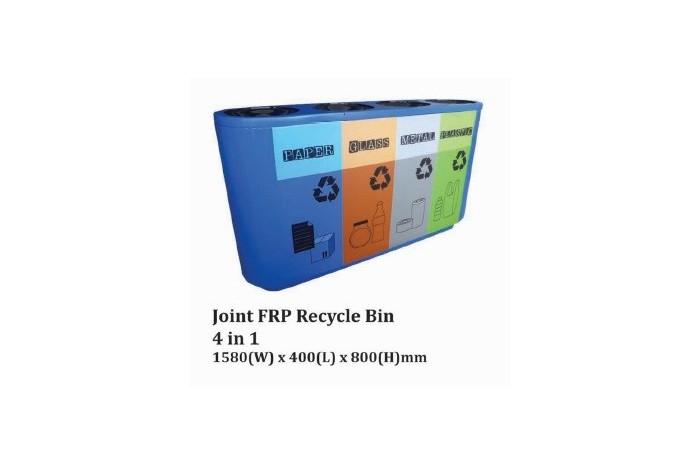 Joint FRP Recycle Bin 4 in 1