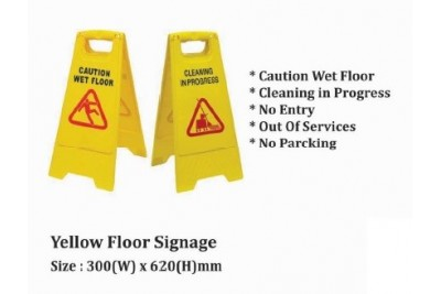 Yellow Floor Signage