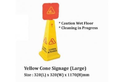 Yellow Cone Signage (Large)