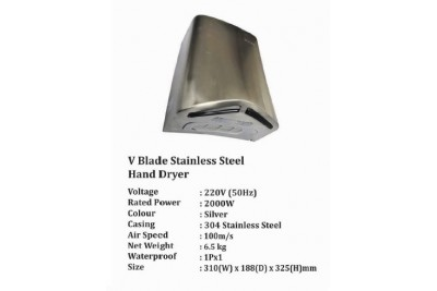 V blade Stainless Steel Hand Dryer