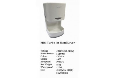 Mini Turbo Jet Hand Dryer