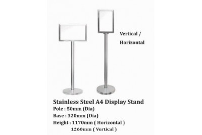Stainless Steel A3 Display Stand