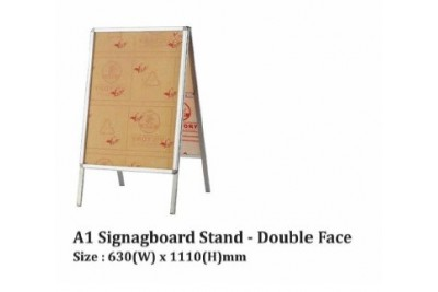 A1 Stainless Steel Signboard Stand - Double Face