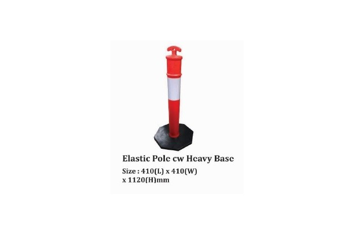 Elastic Pole cw Heavy Base