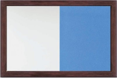 Deluxe Wooden Framed Dual Notice Board