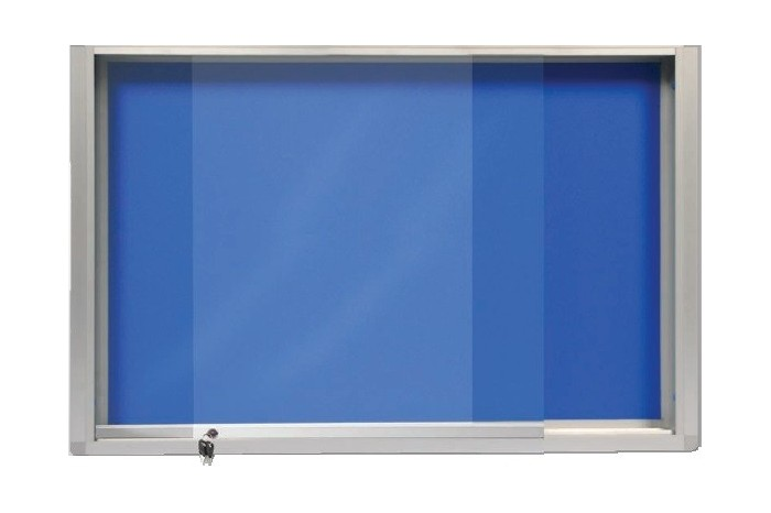 Aluminium Frame Notice Board With Sliding Glass Cabinet