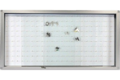 Sliding Glass Cabinet With Key Panel