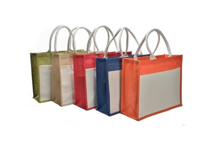 JR236 – Big Jute Bag with Front Pocket