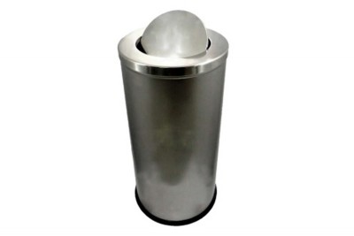 Stainless Steel Bin Round c/w Flip Top