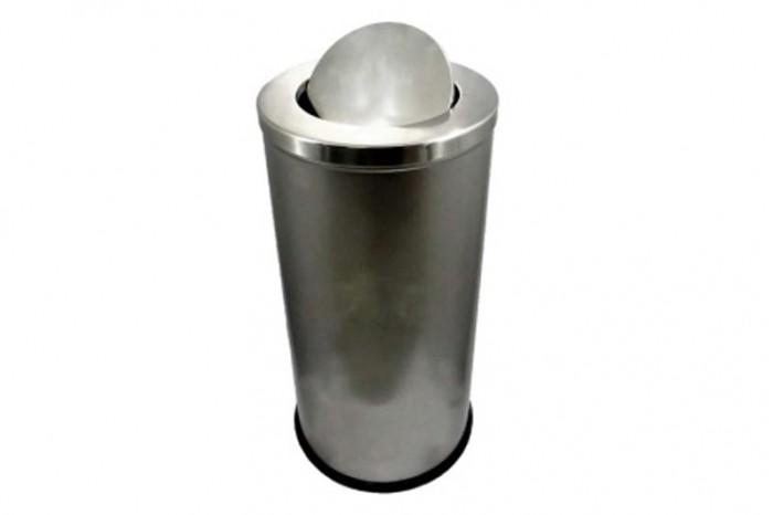 Stainless Steel Bin Round c/w Flip Top