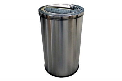 Stainless Steel Bin Round c/w Flip Top (XL)